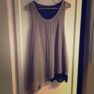 Foreign Exchange Brown Long Blouse Dress S